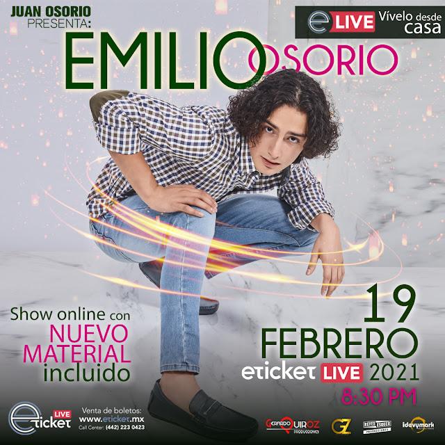 Emilio Osorio ofrecerá su segundo show en streaming con material nuevo para sus fans