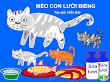 Truyện tranh cho bé: Mèo con lười biếng - Hiền Bùi