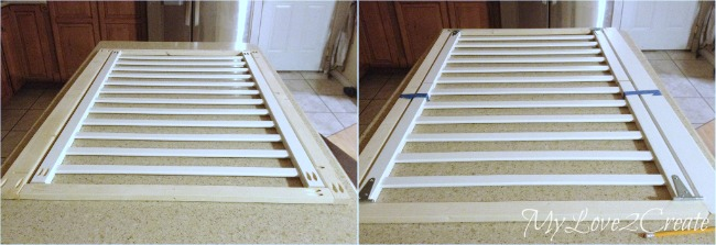 attaching crib rails to the frame