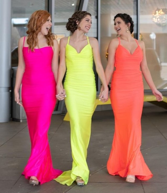 Neon color dress styles