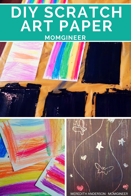 DIY scratch art paper in 3 easy steps! | Meredith Anderson - Momgineer