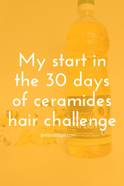 Starting a 30 ceramide challenge to improve my hair | arelaxedgal.com