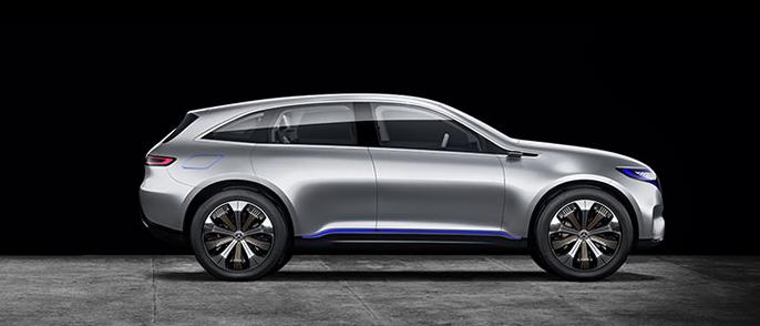 Mercedes Benz Eq Electro Look Future Suv Concept Car Future Cars
