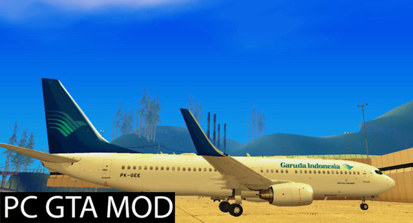 Free Download Garuda Indonesia Boeing 737-8CX (WL)  Mod for GTA San Andreas.