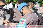 Usai Apel Pagi, Propam Gelar Pemeriksaan Personil Polres Pinrang