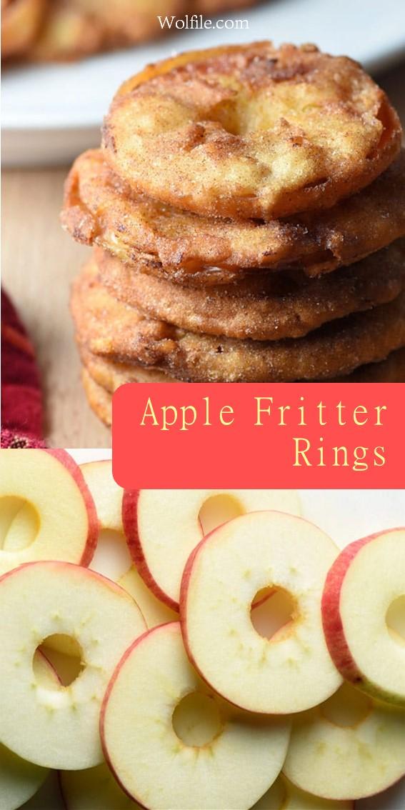 Apple Fritter Rings #applefritters #applerings #Apple #Fritter #Cookies #Dessert