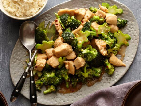 Honey Dijon Chicken with Steamed Garlic-Parmesan Broccoli