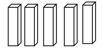 Ilustrasi Domino domino yang berdiri tegak dan berjajar
