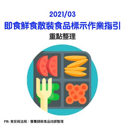 台灣營養師Vivian【法規懶人包】即食鮮食散裝食品標示作業指引