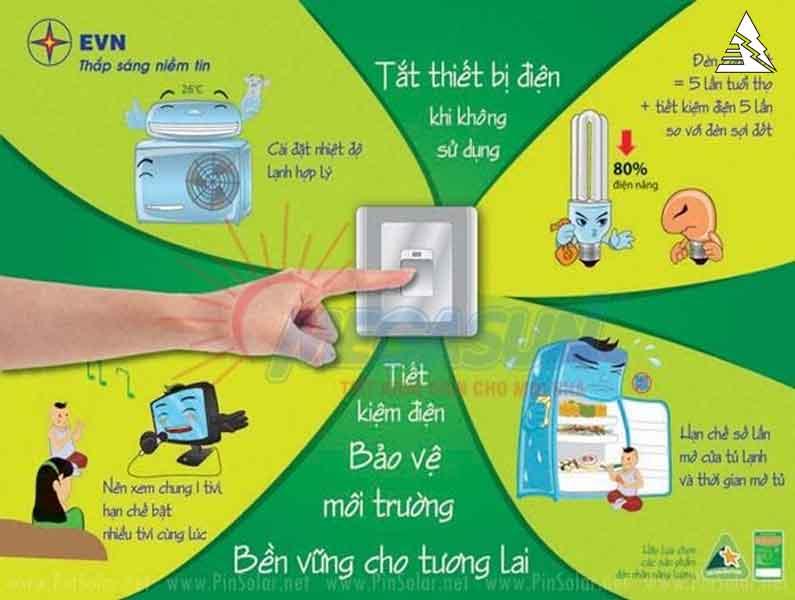 Cách Tiết kiệm điện trong mùa hè