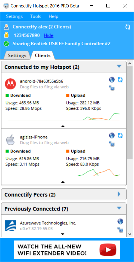 Connectify Hotspot Screenshot 3
