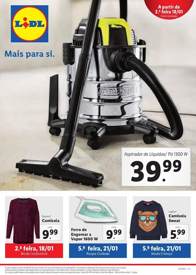 Folheto Lidl - Mais para Si - promoções sensacionais, numa variedade de produtos até 24 janeiro