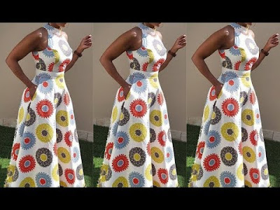 Watch and Download How to cut sew a sleeveless circle gown with turtle neck