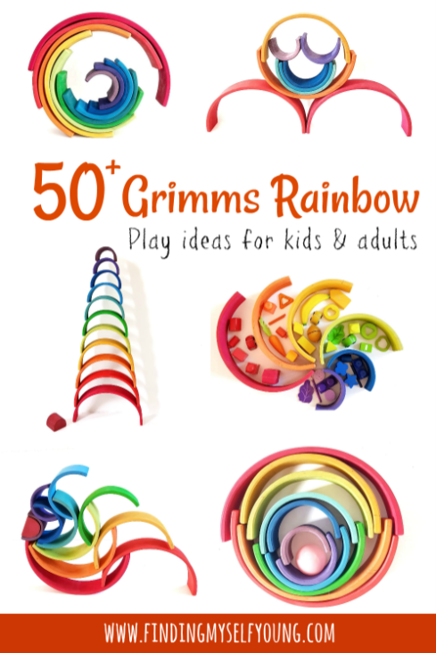 50 plus Grimms rainbow play ideas for kids and adults