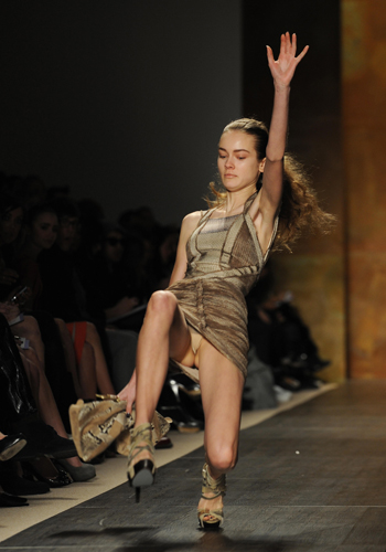 Mid-fall models caught on camera
