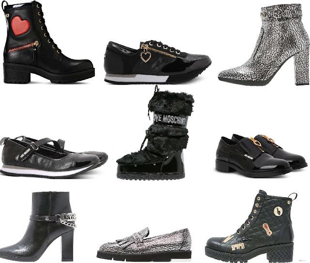collezione moschino di scarpe da donna autunno-inverno 2016/17
