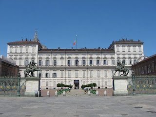 Turin's Royal Military Academy, which was destroyed in the Second World War, was near the Royal Palace (above)