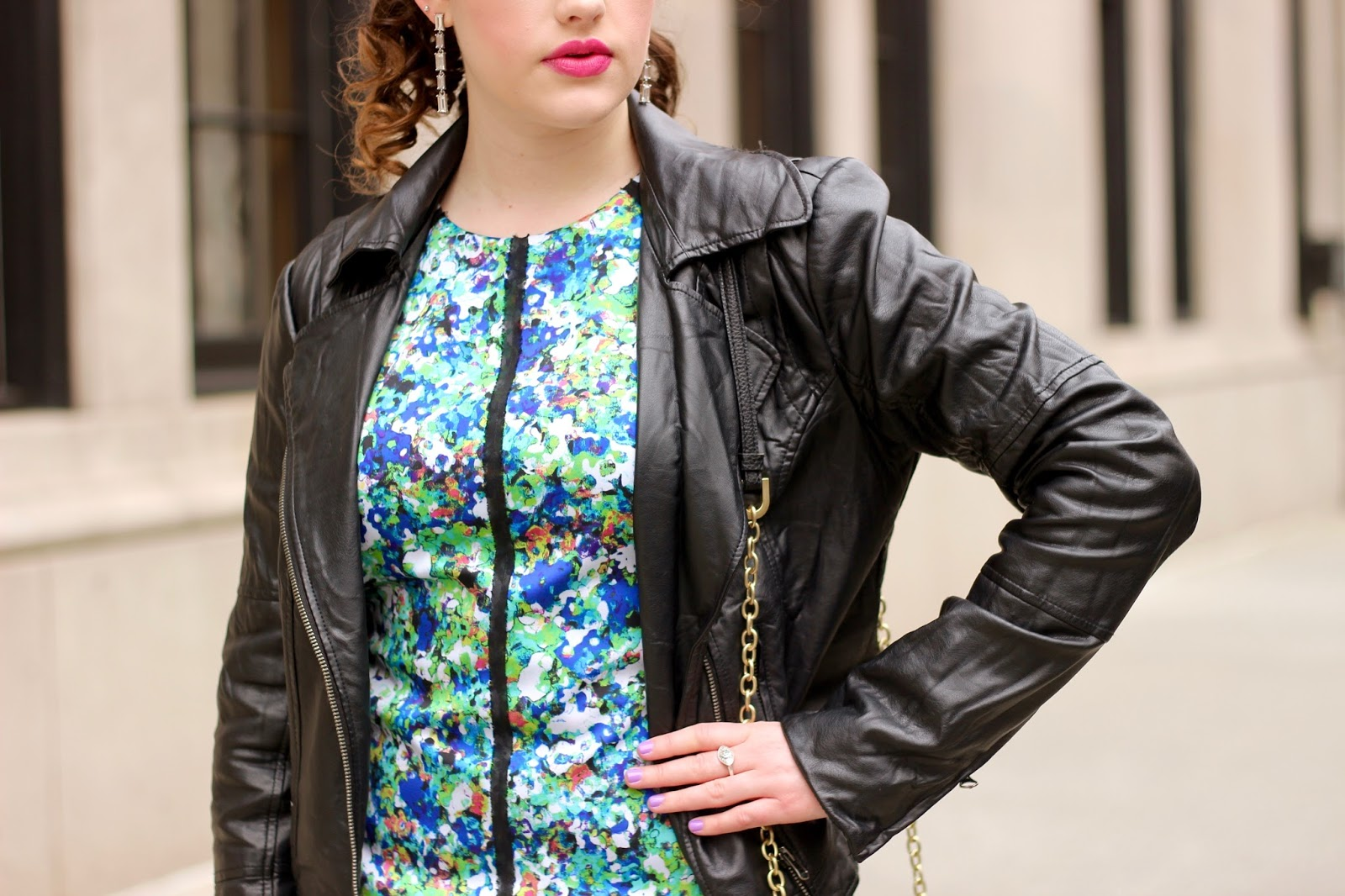 Black leather jacket fashion