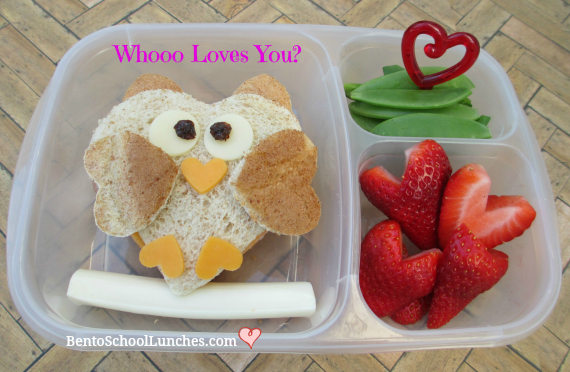Whooo loves you, owl, Valentine's lunch