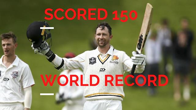 Who is New Zealand batsman scored 150 in Test debut?