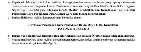 Geveducation:  Informasi Pengiriman Berkas Kesetaraan Jabatan dan Pangkat Bagi Guru Bukan PNS Jenjang Pendidikan Dasar