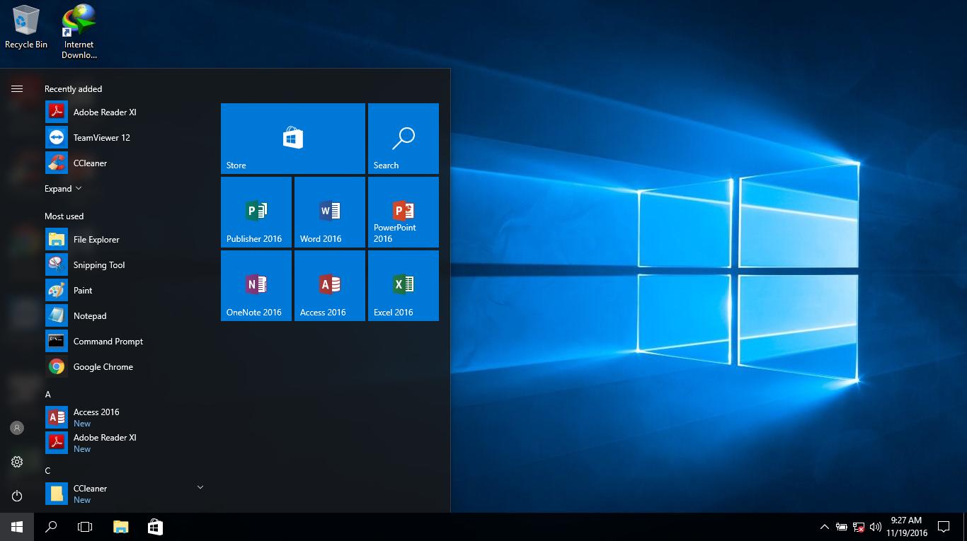 Giữ lại các ứng dụng đã ghim vào Start Menu sau khi chạy sysprep trên Windows 10