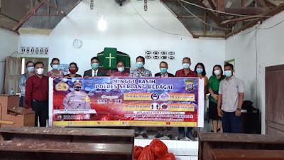 Kapolres Sergai Hadir di Gereja HKBP dan Sosialisasi Prokes