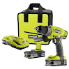 Ryobi 18-volt One+ Lithium-ion Cordless Hammer Drill/driver Combo Kit P1812
