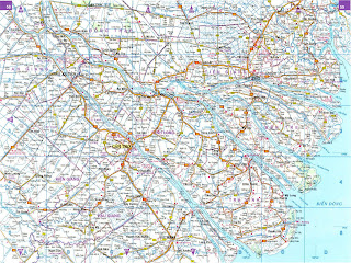 Mappa stradale di Can Tho (Vietnam)