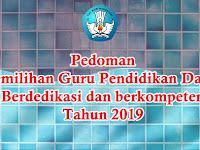 Pedoman Pemilihan Guru Dikdas Berdedikasi Tahun 2019