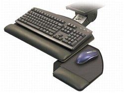 Adjustable keyboard tray