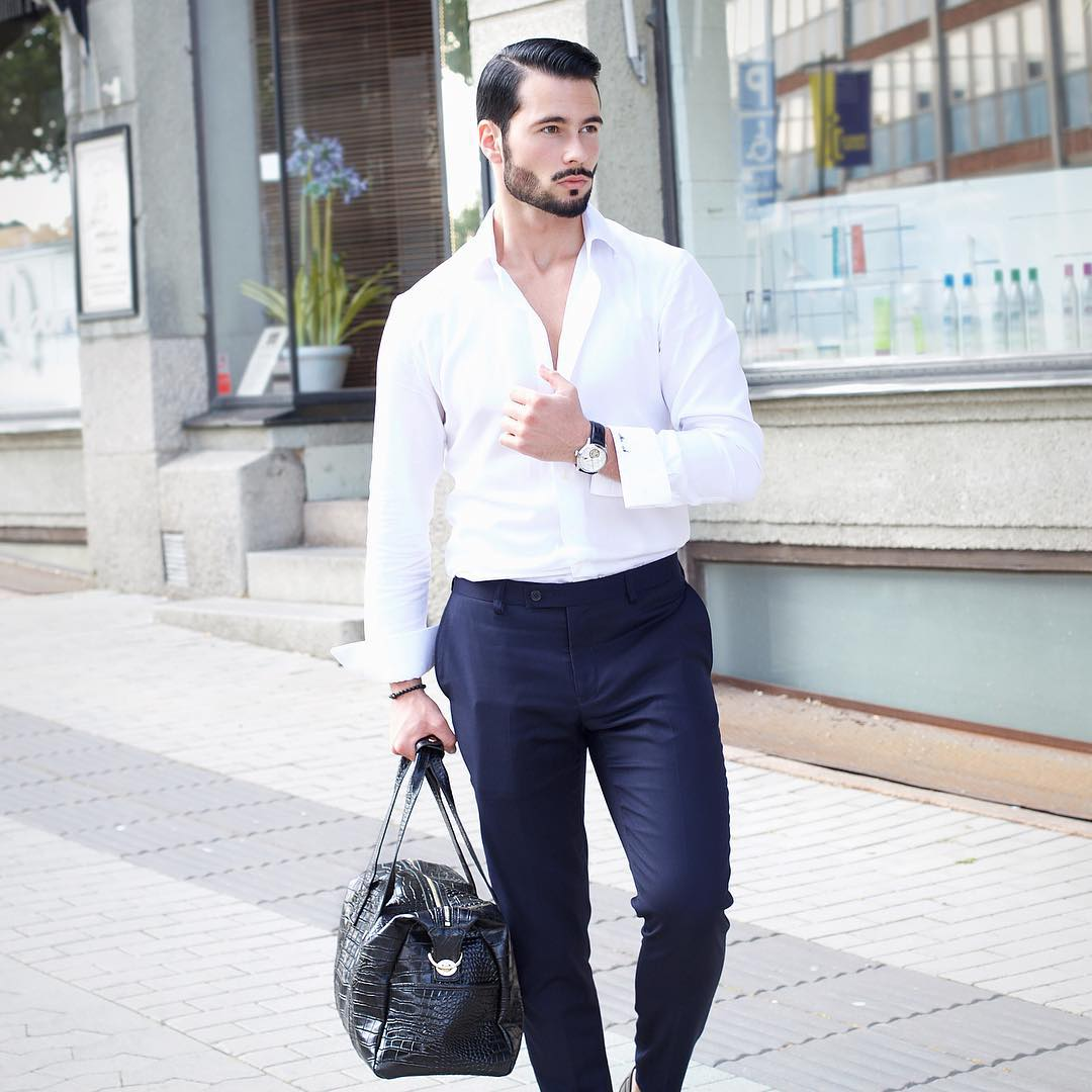 White Shirt Style For Man