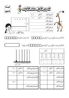 احدث مذكرة رياضيات للصف الرابع الابتدائي الترم الاول للاستاذ عمر بحيري