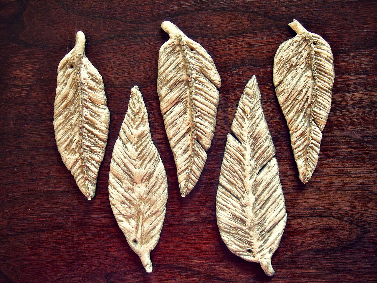 Salt Dough Feathers