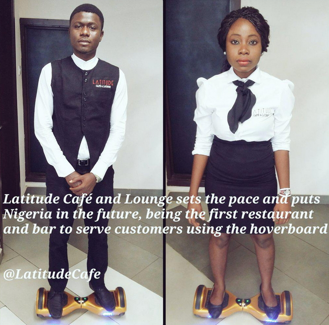 restaurant waiters hoverboard ibadan