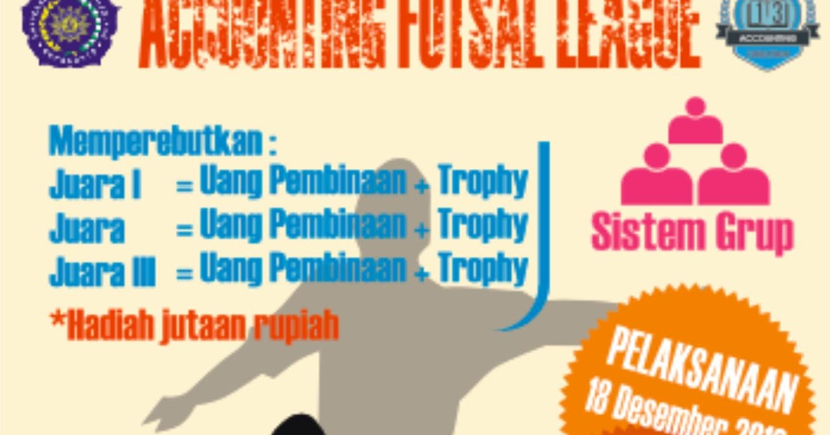 Download Pamflet Turnamen Futsal All Format CDR, AI, SVG