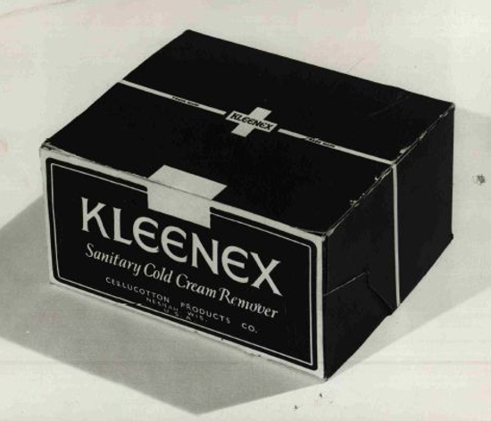 Kleenex, early package 1924