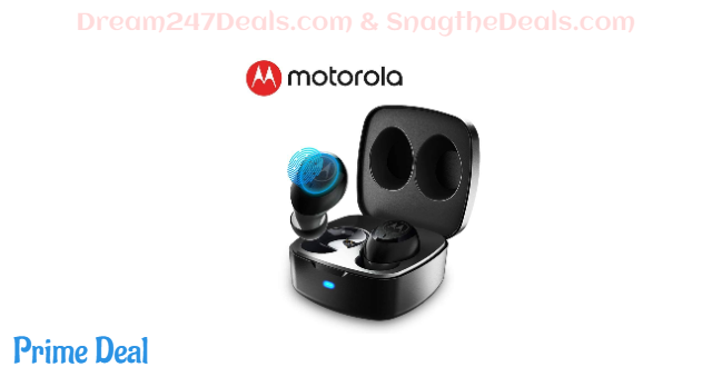50%OFF MOTOROLA, 100 True Wireless Earbuds | Comfortable Bluetooth Earbuds