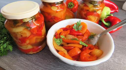 Kako napraviti Salatu od Pečenih Paprika-ZIMNICA🔹How to prepare Preserved Roasted Peppers Salad
