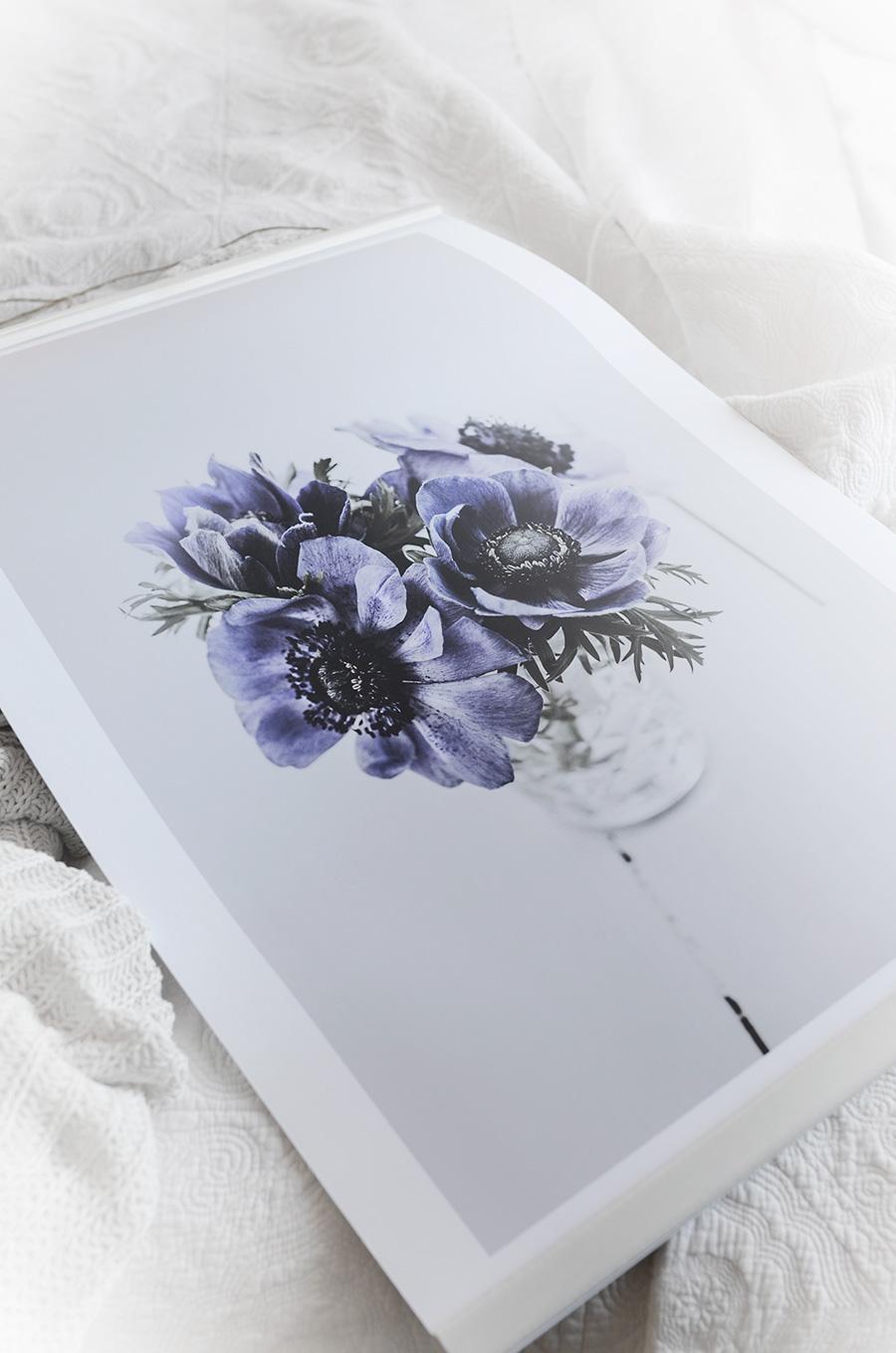 anemon, anemoner, sovrum, inredning, poster, tavla, konst, fotokonst, printler, atelje livsglitter, konstnär dalarna, louise hietanen, fotograf