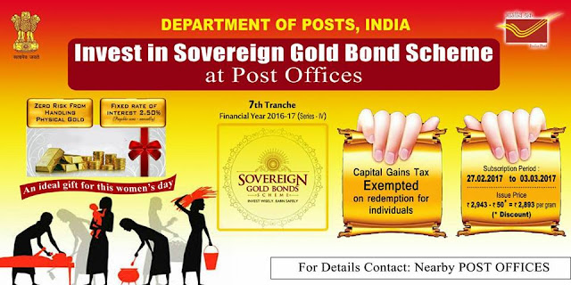 Image result for Sovereign Gold Bond Scheme at Post Offices