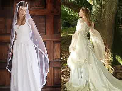 Celtic Renaissance Wedding Dress Princess Irish