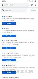 Google Chrome Disable Grid Tab Flags