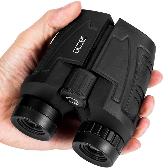 Occer 12x25 Compact Binoculars with Clear Low Light Vision 2021