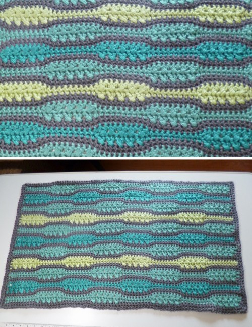 Textured Waves Rug - Free Pattern
