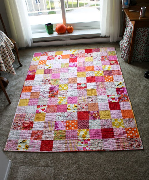 Colors Patchwork Quilt designed by Jeni Baker of In Color Order