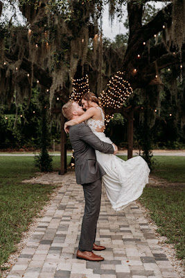 bride and groom photos at ever after farms florida