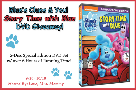 Blue's Clues & You! Story Time with Blue DVD, Blue and Josh, preschool tv show, tv shows for kids, nickelodeon, nickelodeon tv show, Blues Clues Giveaway