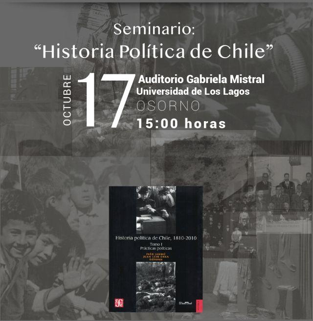"Seminario ""Historia Política de Chile"" en ULagos"