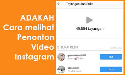 cara melihat viewer instagram